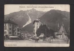 CPA. 74 . CHAMONIX . Av. De La Gare , Le Brévent Et L'église Anglaise . - Chamonix-Mont-Blanc