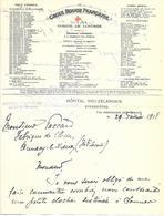74-cachet Hôpital Néo-Zélandais-Comité Britannique à Etrembières Sur Courrier à En-tête De La Croix-Rouge- Londres-rare - Storia Postale