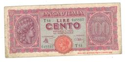 Italy, 100 Lire 1944,  P-75, VG. - [ 1] …-1946: Königreich