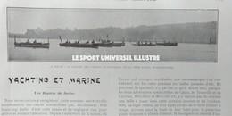 1904 JUVISY - LES REGATES DE JUVISY - YACHTING ET MARINE - ECLUSE DES CUISERS À ABLON - Libri, Riviste, Fumetti