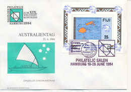 FIJI  -  19.-26.6.1984 ,   XIX.  UPU Congress In Hamburg - Fiji (1970-...)