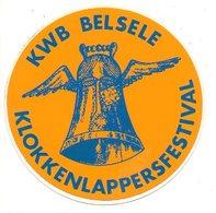 Sticker Autocollant  Belsele KWB Klokkenlappersfestival    Aufkleber  Reclame Publiciteit Publicité - Stickers