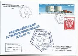 YT 415 Station Concordia - Courrier Abimé - Dumont D'Urville - Terre Adélie - 04/01/2007 - Terres Australes Et Antarctiques Françaises (TAAF)