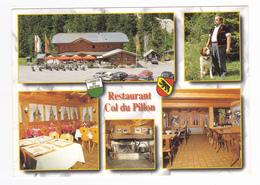 Suisse Vaud Restaurant Col Du Pillon 1865 Les Diablerets Tandem Motos Voitures Autos Chien VOIR DOS - VD Vaud