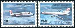 TURKEY 1973 (**) - Mi. 2317-18, Regular Issue Of Airmail Stamps - 1921-... République
