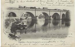 FRANCE - Argenton - Pont Du Chemin De Fer Sur La Creuse 1902 - Autres Communes