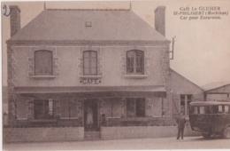Rare Cpa ST PHILIBERT (Morbihan) - Café Le GLUHER - Car Pour Excursion - Francia