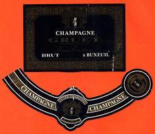 étiquette + Collerette De Champagne Brut Cuvée Tradition Gruet à Buxeuil - 75 Cl - Champagne