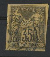 N°45 Cote 40 € COLONIES GENERALES 35ct Violet Noir S/ Jaune Type Sage. Oblitéré. TB - Sage