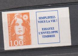 FRANCE MARIANNE DE BRIAT 1 T Xx N° YT 3009a (1 F + Vignette) - Provenant Du Carnet 1507 - 1989-96 Bicentenial Marianne