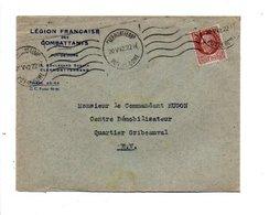 PETAIN SUR LETTRE A EN TETE DE CLERMONT FERRAND 1942 - Marcofilia (sobres)