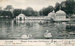 GERMANY - Darmstadt - Grosser Woog, Neues Schwimmhaus  VG PMs Including Paddington UK 1904 - Darmstadt