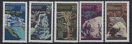 Germany (DDR) 1977  Naturdenkmaler  (**)  MNH  Mi.2203-2207 - Unused Stamps