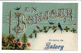 CPA-Carte Postale-France-Un Bonjour Du Camp De Satory -1922-VM11118 - Versailles