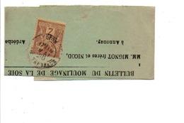 SAGE SUR BANDE JOURNAL DE LYON 1896 - Marcofilie (Brieven)