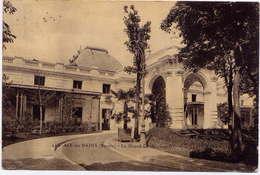 """* AIX LES BAINS , Le Grand Cercle ( Entrée ) , 1912 Avec Timbre Semeuse Perforé à L'envers """" CL """" - Aix Les Bains"""