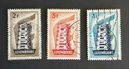 Luxemburg - Nrs. 555 T/m 557 (Europa 1956) (gestempeld/used) - Usati
