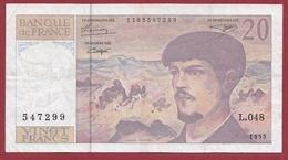 """20 Francs """"Debussy"""" 1995---F/TTB+--ALPH .L.048 - 1962-1997 ''Francs''"""