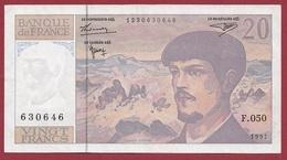 """20 Francs """"Debussy"""" 1997---XF/SUP+--ALPH .F.050 - 1962-1997 ''Francs''"""