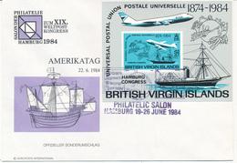 BRITISH VIRGIN ISLANDS   -  19.-26.6.1984 ,   XIX.  UPU Congress In Hamburg - British Virgin Islands