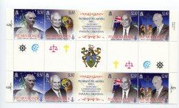 """Pitcairn - Mi.Nr. 840 / 943 Zwischensteg / Gutter-Pair - """"Parkin Christian"""" ** / MNH (aus Dem Jahr 2011) - Briefmarken"""