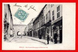 55. Stenay. Rue Porte De Bougogne Et Hôtel De Ville. 1906 - Stenay