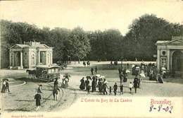 CPA - Belgique - Brussels - Bruxelles - Entrée Du Bois De La Cambre - Parks, Gärten