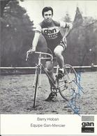 """* Coureur Cycliste De L'équipe  Française """" GAN MERCIER. """" , François COQUERY , Photo Cartonnée ** Dédicacée ** - Cyclisme"""