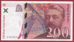 """200 Francs """"Eiffel""""--1996---XF/SUP+---ALPH -E- Numéro---024224414 - 1992-2000 Ultima Gama"""