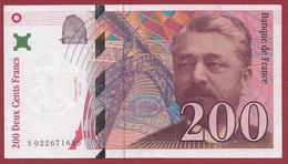 "200 Francs ""Eiffel""--1996---XF/SUP+---ALPH -S- Numéro---022671689 - 1992-2000 Ultima Gama"