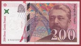 """200 Francs """"Eiffel""""--1996---F/TTB+---ALPH -Q- Numéro---022539095 - 1992-2000 Last Series"""