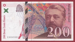 """200 Francs """"Eiffel""""--1996---F/TTB+---ALPH -E- Numéro---024538491 - 1992-2000 Dernière Gamme"""