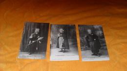 LOT DE 3 CARTES POSTALES ANCIENNES NON CIRCULEES DATE ?.../ LA GUENUCHE DE LA MERINE..NANETTE BURELLE, LA BASCOUETTE.. - Artistes