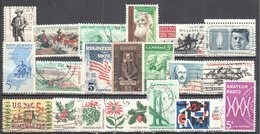 United States 1964 Year Set - Mi.855-875 Used - Años Completos