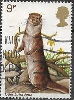 GREAT BRITAIN 1977 British Wildlife - 9p - European Otter FU - 1952-.... (Elisabetta II)
