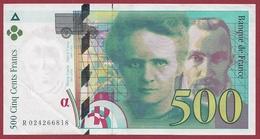 """500 Francs """"Pierre Et Marie Curie""""--1994---F/TTB+---ALPH -R- Numéro---024266818 - 500 F 1994-2000 ''Pierre Et Marie Curie''"""
