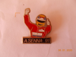 PIN'S - SENNA - 91 - Automobile - F1