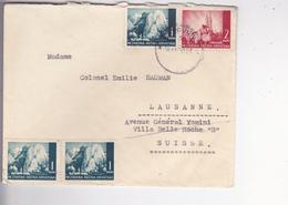 CROATIA -  NDH  -  BRIEF  -- 1943  --  ZAGREB Nach  COLONEL EMILIE BAUMAN,,   LAUSANNE,  SCHWEIZ - Kroatien