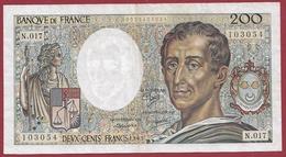 """200 Francs """"Montesquieu"""" 1983----F/TTB+---ALPH. N.017 - 1962-1997 ''Francs''"""