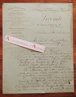 Lettre 1890 LECOMTE Fabrique De Voitures Au Marquis De BEAUMONT D'Oty - De Carayon - BORDEAUX De Touny Condillac - France