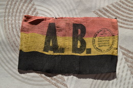 [WW2] Brassard L III De M.Henri Acke (Weerstander), Courtrai. - Militari