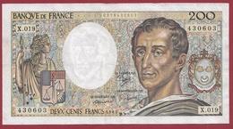 """200 Francs """"Montesquieu"""" 1983----F/TTB+---ALPH. X.019 - 1962-1997 ''Francs''"""