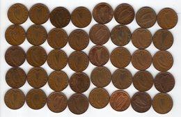 Irlande / Eire - Lot De 40 Monnaies 1P - Ierland