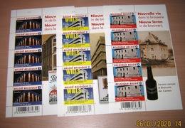 4061/62/63** Nieuw Leven In De Brouwerij** BF Nouvelle Vie Dans La Brasserie MNH Pl 2 Pils Mena / Wiels Etc..PL 2-2-2 - Panes