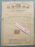 Facture 1881 Louis LHERAULT Horticulteur Cultivateur à Argenteuil - Au Marquis De BEAUMONT - Seine Et Oise - Rare - Francia