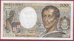 """200 Francs """"Montesquieu"""" 1985----VF/SUP---ALPH. M.030 - 200 F 1981-1994 ''Montesquieu''"""
