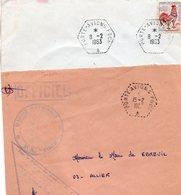 """2 L - Oblitération: """" Porte-Avions FOCH """"-- ( Type 1 Et 2 ) - Marcophilie (Lettres)"""