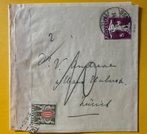 9804 - Bande Pour Journal Fils De Telle 5 Ct Violet De Genève Pour Zürich 1930 + Timbre Taxe - Interi Postali