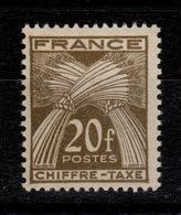Taxe Gerbe YV 77 N** Cote 12 Euros - 1859-1955 Neufs