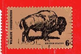 (Us2) USA °- 1970 - BISON . Yvert . 895.  USED. - Stati Uniti